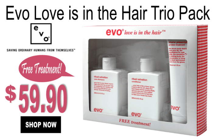 Evo love is in the hair pack
