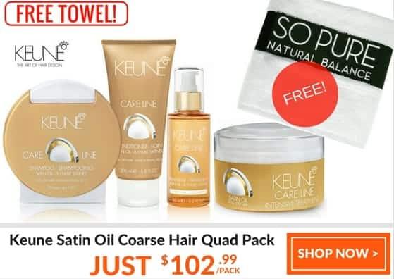 KEUNE SATIN OIL quad pack coarse hair