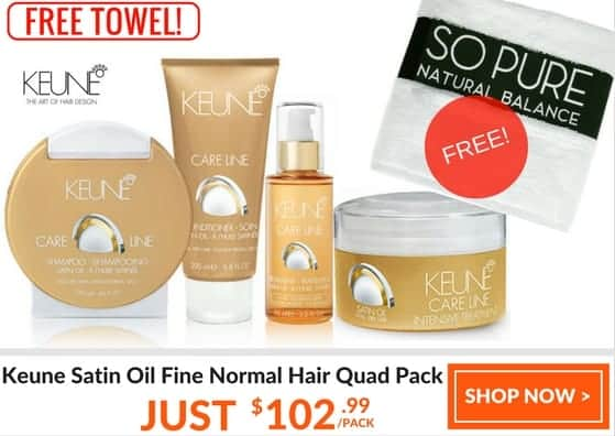 KEUNE SATIN OIL quad pack fine normal hair