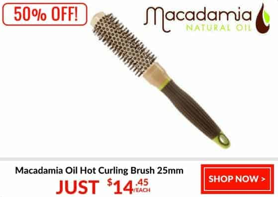 Macadamia oil brush 25mm 50% off