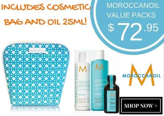 MoroccanOil Moist repair Duo packs with bag and oil 25ml