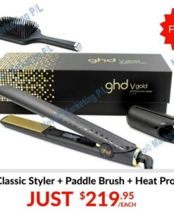 ebay ghd gold classic styler with paddle brush and heat protect spray
