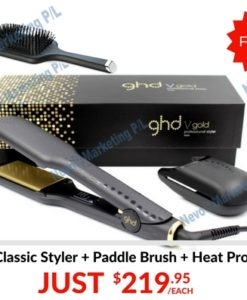 ebay ghd gold max styler with paddle brush and heat protect spray