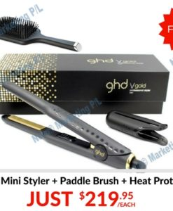 ebay ghd gold mini styler with paddle brush and heat protect spray