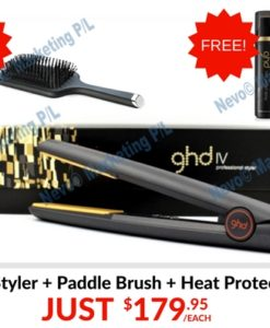 ebay ghd iv styler with paddle brush and heat protect spray